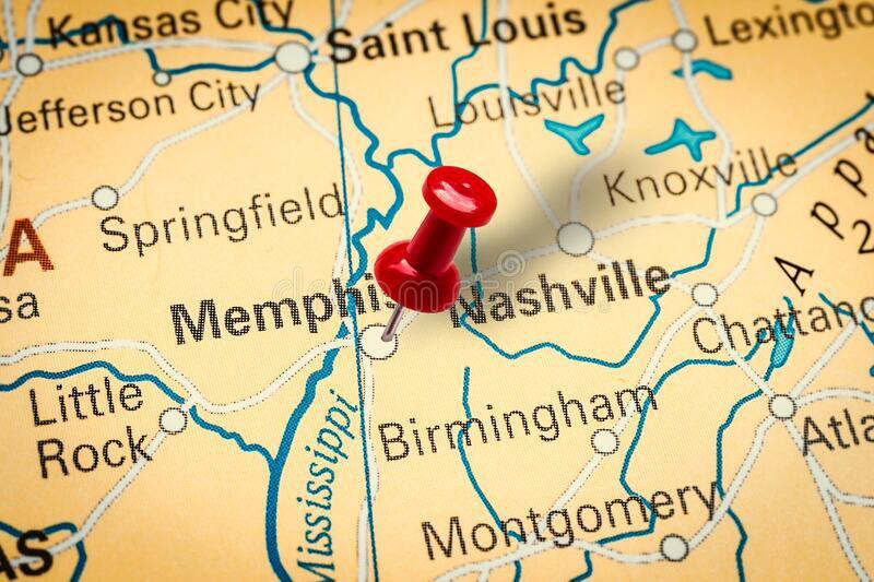 Memphis TN City Map Porta Potty Rentals